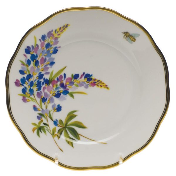American Wildflowers Bread and Butter Plate Texas Bluebonnet